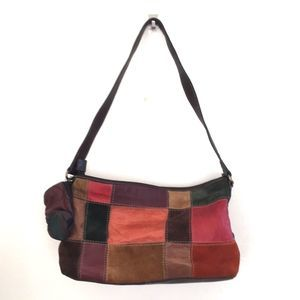 Fossil vintage patch work boho hippie leather bag